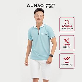 Áo thun polo nam GUMAC ATNB704 phối túi phom dáng lịch lãm