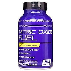 Nitric Oxide Fuel - Endurance & Stamina Booster for Men & Women- Increase Energy & Endurance All Day - Nitric Oxide Booster - L Arginine, Maca, Tribulus, Ginseng Horny Goat Weed Epimedium 90 Caps USA