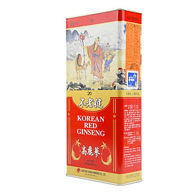 Hộp Hồng sâm khô Daedong Korea 6 năm tuổi loại GOOD Size 20 (14 củ) - 300 Grams