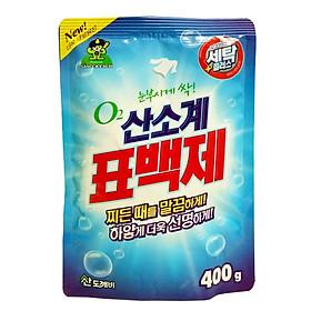 Gói bột giặt phụ trợ tẩy vết bẩn khử khuẩn quần áo Hàn Quốc 400g