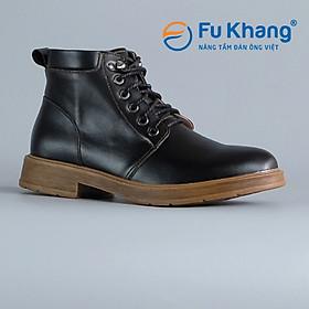 Giày Boot Cổ Cao Nam Đẹp Cao Cấp Chính Hãng Fu Khang Màu Đen BLACKMAN