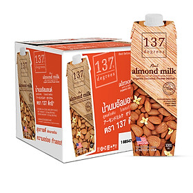 Thùng Sữa Hạnh Nhân Nguyên Chất 137 DEGREES 1000ml (Thùng 12 hộp)
