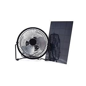 5W 6V 6Inch Solar Panel Fan Air Cooling Desktop Fan Portable Mini USB Fan Quiet