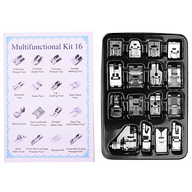 Sewing Machine Presser Feet Set 16PCS Professional Sewing Crafting Presser Foot Feet for Janome Brother Singer Sewing