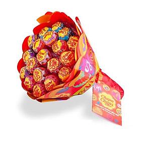 Kẹo Mút Chupa Chups Hương Trái Cây Bó Hoa (19 Que x 10g)