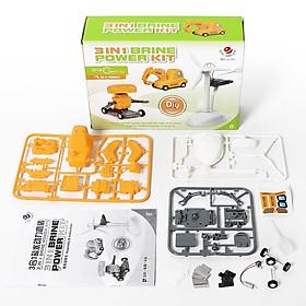 Đồ chơi khoa học Sáng Tạo Stem - Bộ lắp ráp Động cơ chạy bằng Nước muối 3 trong 1: Robot, Xe cần cẩu, Cối xây gió (Brine Power Kit)