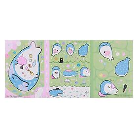 Sổ Giấy Note Cute Little Whale (6 Xấp)