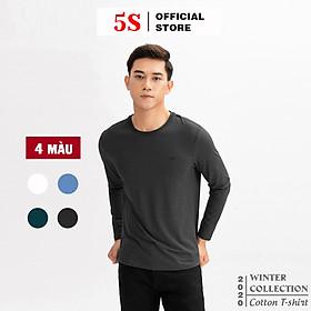 Áo Thun Nam Dài Tay 5S (ATO20), Vải Cotton Spandex Cao Cấp, 4 Màu Cơ Bản N1