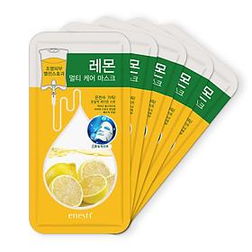 Combo 5 sản phẩm mặt nạ dưỡng da Enesti Suansu giảm mụn và kiểm soát nhờn từ Chanh 27g