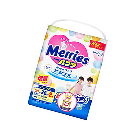 Tã/bỉm quần Merries size XXL - 26 + 2 miếng (Cho bé 15 - 28kg)-1