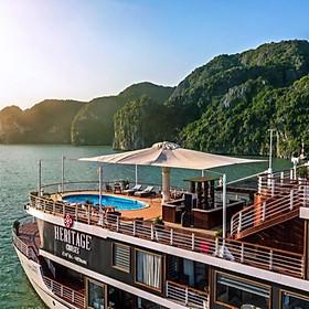 Trải Nghiệm Kỳ Nghỉ Tuyệt Vời Với Tour Du Lịch 2 Ngày 1 Đêm Trên Du Thuyền Heritage Cruises 5 Sao Đẳng Cấp Thăm Vịnh Hạ Long (Chèo Thuyền Kayak, Thăm Vịnh Hạ Long)