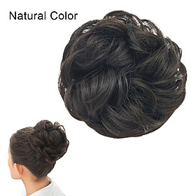 Messy Hair Bun Scrunchie Hair Piece Extension with Elastic Rubber Band Ponytail Hair Extensions Updo Chignon Donut