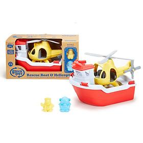 Bộ đồ chơi tàu cứu hộ và trực thăng Green Toys cho bé từ 2-6 tuổi