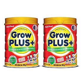 Bộ 2 Lon Sữa GrowPLUS+ Đỏ Cho Trẻ Suy Dinh Dưỡng Trên 1 Tuổi - 900g