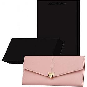 Bộ quà tặng ví / bóp nữ cao cấp có hộp túi kèm theo - Hồng