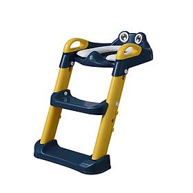 Thang bô vệ sinh có nắp thu nhỏ bồn cầu gấp gọn tiện lợi dùng cho bé trai và bé gái có sẵn tay vịn đi kèm
