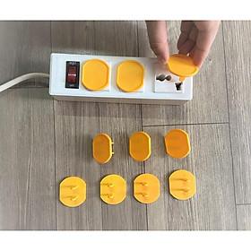 Combo 10 Nút Bịt Ổ Điện Tròn Lớn Đường Kính 3CM Bảo Vệ An Toàn Cho Bé (Giao Màu Ngẫu Nhiên)