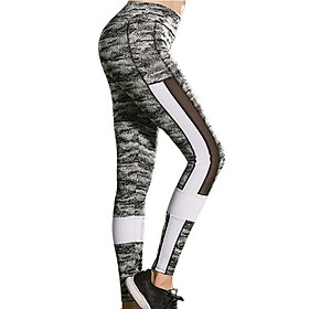 Tight Patchwork Yoga Sports And Hips High Waist Thread Women Pants