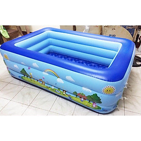 Bể Bơi 3 Tầng 160X120X60cm - Họa tiết trên phao bơi ngẫu nhiên