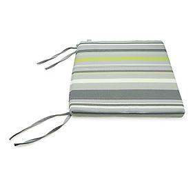 Nệm Ngồi Soft Decor 505 Grey Stripe Square Seat Pad (50 x 50 x 5 cm) - Xám Nhạt