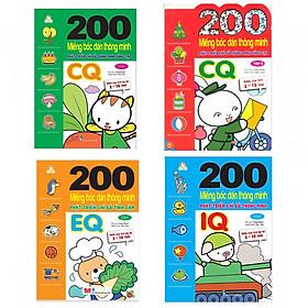 Bộ  200 miếng bóc gián phát triển thông minh bé tự sáng tạo IQ, EQ, CQ ( BỘ 2 đến 10 tuổi )- Tặng kèm Postcard Greenlife
