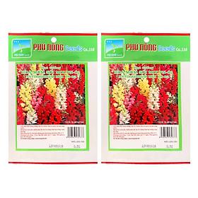 Bộ 2 Gói Hạt Giống Hoa Mõm Sói Mix PN02 Phú Nông (Trên 1000 Hạt / Gói)