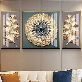 Tranh Canvas Treo Tường Hiện Đại _ Tranh Bộ 3 Hoa Nghệ Thuật Siêu Đẹp