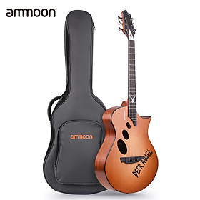 ammoon GM-2 40 Inch Acoustic Folk Guitar Kit with Gig Bag/ Capo/ 4pcs Picks/ Cleaning Cloth/ Tuner/ String Winder/ Mini