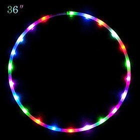 LED Ring Colorful Detachable Collapsable Night Light for Dancing Stage Props Sticker Color Random