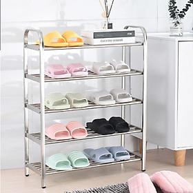 Giá kệ để giày dép 3/4/5/6 tầng Inox cao cấp bền đẹp Vando - kệ đa năng để đồ siêu chắc chắn