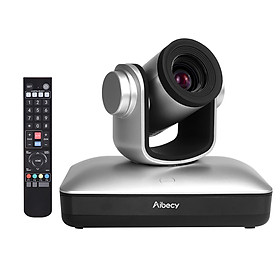 Aibecy HD Video Conference Cam Conference Camera Full HD 1080P Fixed Focus Zoom 105 Degree Wide Viewing with 2.0 USB Web