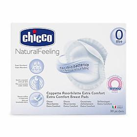 [ TẶNG QUÀ ] Miếng Lót Thấm Sữa Chống Khuẩn Chicco ( hộp 30 miếng ) - Tặng 10 túi trữ sữa unimom 210ml