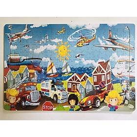 Combo 02 tranh ghép hình 200 mảnh bằng gỗ an toàn cho bé BK121