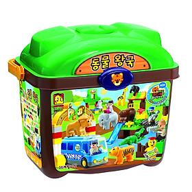 Đồ chơi mô hình lắp ghép - Chính hãng Hàn Quốc - Thế Giới Động Vật Oxford DW2531 (Animal World) bao gồm 123 mảnh ghép nhựa ABS cao cấp, an toàn - Dành cho trẻ em từ 3 tuổi