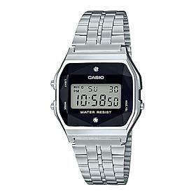 Đồng hồ unisex dây kim loại Casio Standard chính hãng A159WAD-1DF