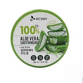 Gel ECOSY 100% Aloe Vera Lô Hội Dưỡng Ẩm Cho Da 300ml