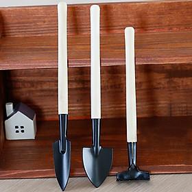 Bộ dụng cụ trồng cây cảnh mini gồm 3 món: cuốc, xẻng, thuổng
