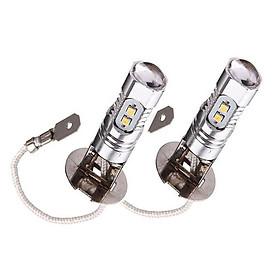 2 CHIẾC H3 2323 10SMD 12 V-24 V 6500 K ĐÈN LED Xe Hơi Ô Tô Tín Hiệu Ngược Đèn Bóng Trắng