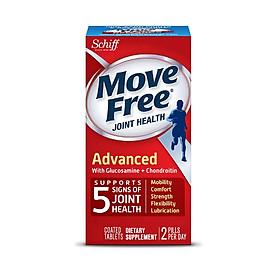 Thực phẩm chức năng Hỗ trợ điều trị 5 triệu chứng ở xương và khớp - Move Free Joint Heath Advanced Glucosamine + Chondroitin 200 Tablets