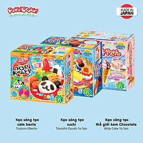 Combo 3 hộp kẹo Popin Cookin đồ chơi sáng tạo ăn được : Sushi + 2 hộp kẹo tự chọn chính hãng