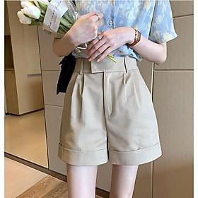 Quần short nữ lưng cao, ngang đùi bằng vải cao cấp thoàng mát [ BEST SELLER ] Mặc thoải mái không kén tuổi, dễ phối đồ