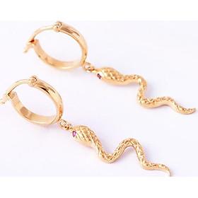 Bông tai bạc mạ vàng con rắn thiết kế độc quyền tinh xảo Gix Jewel BT08