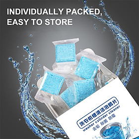 Washing Machine Cleaner Tablets Washer Cylinder Cleaner Effervescent Tablets Washer Drum Tub Cleaner 12pcs