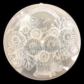 Khuôn rau câu sinh nhật giỏ hoa cúc – Khuôn hình tròn - Mã số 1021
