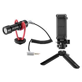 ulanzi Smartphone Video Kit 1 with Mini Desktop Tripod + Phone Holder + Video Microphone for Smartphone Vlogging Live
