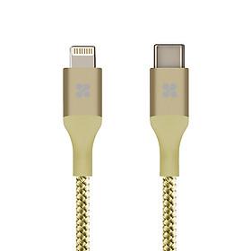 Cáp Chuyển Đổi Promate UniLink-LTC2 Type C Sang Apple Lightning 2m - Vàng kim