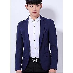 Áo vest lẻ Silk thái màu xanh dương BB038VPC