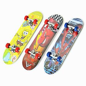Ván Trượt Skateboard Trẻ Em Nhiều Họa Tiết Kích Thước 60cm (Từ 2-10 tuổi) - Giao Màu Ngẫu Nhiên