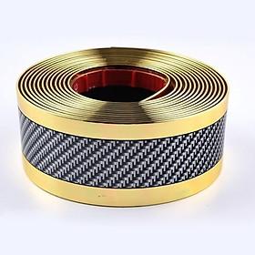 Carbon Fiber Rubber Moulding Strip Rubber for Car Door Pedal Trim Bumper DIY Door Sill Protector Edge Guard Car Styling