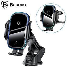 Giá đỡ điện thoại kiêm sạc không dây gắp taplo, cửa gió điều hòa ô tô hãng Baseus WXHW03 - Công suất đầu ra: 15W (Max) - Hàng Nhập Khẩu